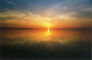 Sunset Over Still Water