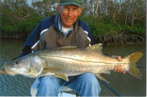 Largest Snook Ever Caught On Steve Huff's Skiff