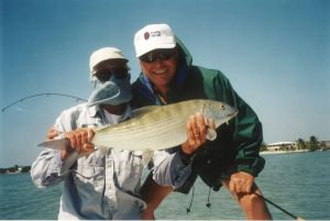 A Great Bonefish Caught on Ted and Mary's Flat in Marathon, Florida
