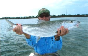 A Duck Key 13 1/4 bonefish caught by Chuck Sheley Guide Dustin Huff