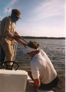 Steve Huff lends a hand