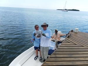 Dane McCarthy and I ready to bonefish in Roatan