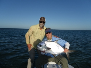 Larry LaFleur and Guide Dustin Huff with a gorgeous permit