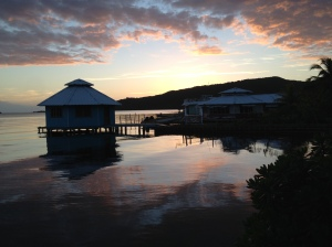Sunset At Mango Creek Lodge