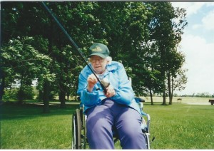 Grandma Rowe Loved To Fish Even If He She Had To Use Her Wheelchair